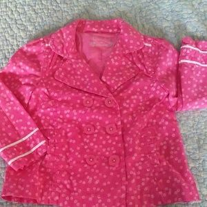 Toddler Girl Cherokee Pink Peacoat size 3T